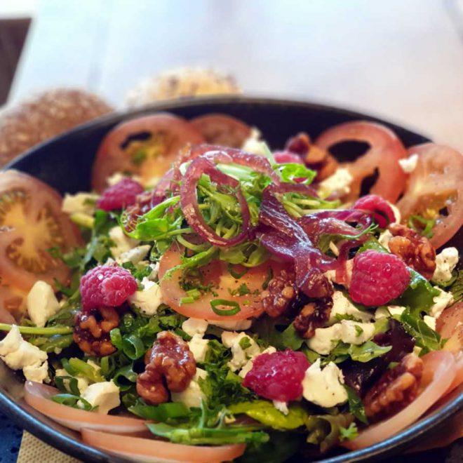 geitenkaas salade eten bestellen Heerenveen